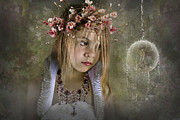 Flower Pink Fairy Child Posters - Seeing Fairies Poster by Ethiriel  Photography