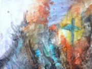 Creative Paintings - Seeking Salvation from the Turmoil by Cassandra Donnelly