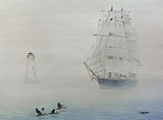 Boat Prints - Seeking Wind Print by Jim Ziemer