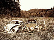 Rusted Cars Framed Prints - Seen Better Days Framed Print by Kerry Langel