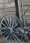 Wagon Pastels Framed Prints - Seen Better Days Framed Print by Stephanie L Carr