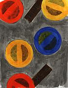 Gouache Abstract Paintings - Segments 1 by David Townsend