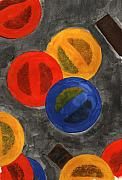 Gouache Abstract Paintings - Segments 2 by David Townsend