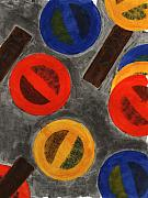 Abstract Prints - Segments 4 Print by David Townsend