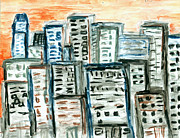 City Scape Pastels - Segments by Carolyn Olney
