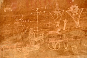 Spirits Photos - Sego Canyon Petroglyphs by Gary Whitton