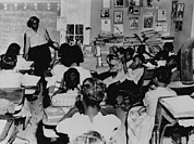 Discrimination Prints - Segregated Classroom. Six Years Print by Everett
