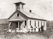 One Room School House Prints - Segregated School, 1921 Print by Granger