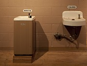 Jim Crow South Photo Framed Prints - Segregated Water Fountains On Display Framed Print by Everett