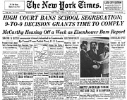 Thurgood Prints - Segregation Headline, 1954 Print by Granger