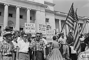 Race Discrimination Framed Prints - Segregationist Rally In Little Rock Framed Print by Everett