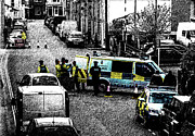 Police Van Framed Prints - Seige Framed Print by Paul Howarth