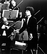 Conducting Prints - Seiji Ozawa Conducting The Boston Print by Everett