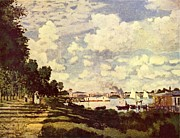 Impressionistic Paintings - Seine Basin with Argenteuil by Extrospection Art