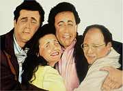 Seinfeld Paintings - Seinfeld by Douglas Fincham