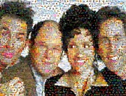 Cosmo Digital Art - Seinfeld Mosaic by Paul Van Scott