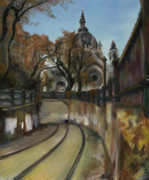 Landscape Oil Paintings - Selby Tunnel by Grace Dupre