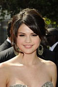 Hoop Earrings Posters - Selena Gomez At Arrivals For 2009 Poster by Everett