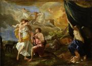 Selene And Endymion Print by Nicolas Poussin