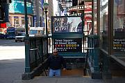 Portriat Posters - Self At Subway Stairs Poster by Rob Hans