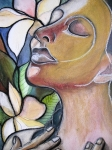Plumeria Prints - Self-Healing Print by Kimberly Kirk