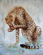 Cheetah Mixed Media Prints - Self-Love Print by Blaze Warrender