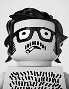 Lego Digital Art - Self Portrait 1967 by Max Requenes