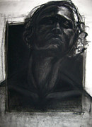 African American Man Drawings Prints - Self Portrait 2008 Print by Gabrielle Wilson-Sealy