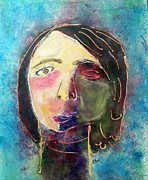 Portrait Tapestries - Textiles Originals - Self Portrait - After My Fall by Charlene White