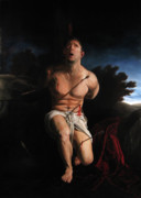 Religious Artist Painting Prints - Self Portrait as St. Sebastian Print by Eric  Armusik