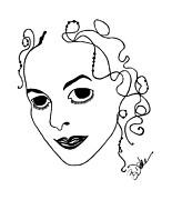 Barbara Drake - Self-Portrait Caricature