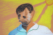 Pastel Portrait Pastels - Self Portrait by Jose Valeriano