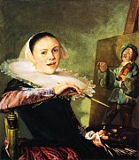 1630 Prints - Self Portrait Judith Leyster Print by Pg Reproductions