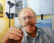 Photorealism Prints - Self portrait Print by Mike Ivey
