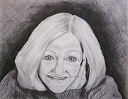 Self-portrait Drawings - Self-Portrait PaJe by Patsy Gunn