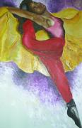 Dancing Girl Paintings - Self portrait by Pamela Henry
