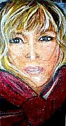 Self-portrait Pastels Prints - Self Portrait Patty  Print by Patty Meotti
