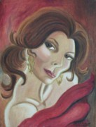 Suzanne  Marie Leclair - Self Portrait Red