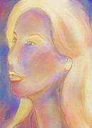 Rosy Hall Pastels Prints - Self Portrait Print by Rosy Hall