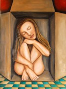 Tile Paintings - Self Storage by Leah Saulnier The Painting Maniac
