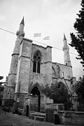 Trnc Posters - Selimiye mosque formerly saint sophia cathedral nicosia lefkosia TRNC turkish nicosia cyprus Poster by Joe Fox