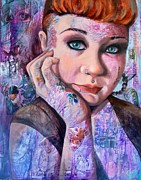 Edgy Paintings - Selina by Jami Childers