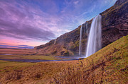 Lush Foliage Framed Prints - Seljalandsfoss Framed Print by Aevarg