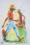 Bob Marley Painting Originals - Sell Fish by Ken Spencer