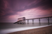 Time Exposure Posters - Selsey Lifeboat Station Poster by Nina Papiorek