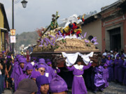 Antigua Prints - Semana Santa Procession V Print by Kurt Van Wagner