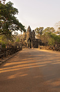 Angkor Thom Prints - Semi-restored Gate At Angkor Thom Print by Jim Simmen