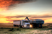 Harvest Photos - Semi Truck Unload by Thomas Zimmerman