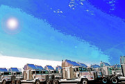 Semi Truckscape 1 Print by Steve Ohlsen