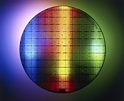 Electronic Photos - Semiconductor Wafer by Pasieka